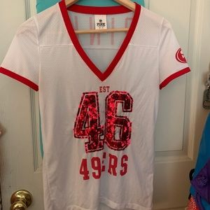VS PINK 49ers jersey XS